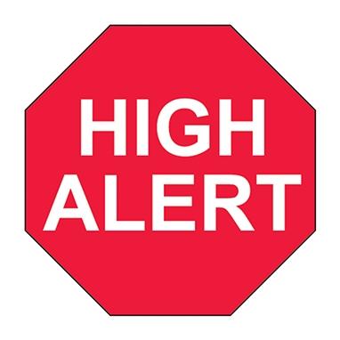 High Alert Label